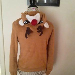 Super cute reindeer hoodie! Size s!!
